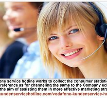 Vodafone service hotline assisting the Company to generate vital statistics as for consumer trends by Patrickmorgans