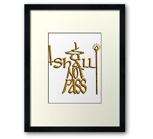 You Shall Not Pass - Tu Non Puoi Passare - Gandalf Framed Print