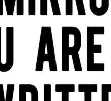 This is a Mirror Sticker