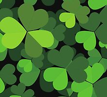 Saint Patrick's Day, Clovers - Green Black by sitnica