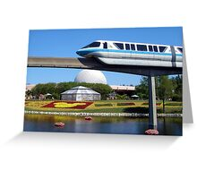 Epcot Monorail Greeting Card