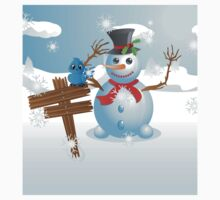 Snowman and signboard Kids Clothes