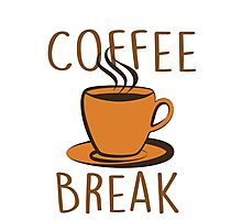 Coffee Break Photographic Print