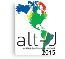 Alt-J North & South American Tour 2015 Canvas Print