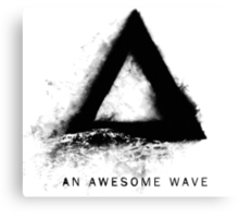 Alt-J An Awesome Wave Front Cover Canvas Print