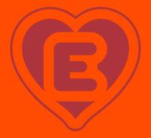 Heart E letter Kids Clothes