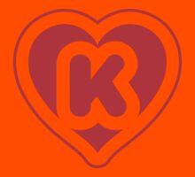 Heart K letter Kids Clothes