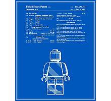 Lego Man Patent - Blueprint (v1) Photographic Print
