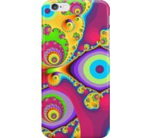 Colourful swirls and circles iPhone Case/Skin