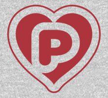 Heart P letter Kids Clothes