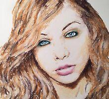 Michelle Trachtenberg, Pastels Portrait, by James Patrick by James Patrick