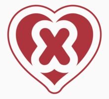 Heart X letter Kids Clothes