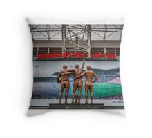 The United Trinity, Old Trafford Throw Pillow