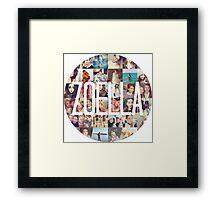 Zoella / Zoe Sugg Circle Collage Framed Print