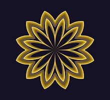 Abstract Flower in Gold by Lena127