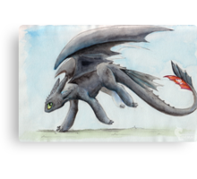 HTTYD Toothless Watercolour Canvas Print