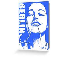 BERLIN-CABARET 2 BLUE Greeting Card