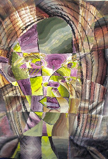 Cubism Self Portrait by Tara Filliater