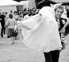 Bride and Groom having a bit of fun by Matt Sillence