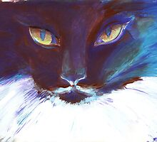 Feline Stare by Kristin Thornton
