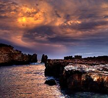 Rainbow Rocks sundown. by Steve Chapple