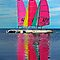 Colorful Sailboats