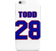National Hockey player Todd White jersey 28 iPhone Case/Skin