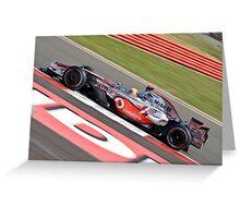 Lewis Hamilton - Silverstone 2008 IIII Greeting Card