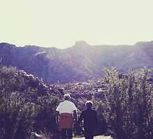 Papa and Nana on an Arizona Trail by Mark A. Queen