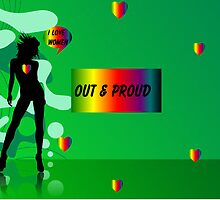 OUT AND PROUD LESBIAN PRIDE by SapphireIce