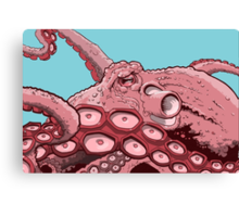 Pink Octopus Design Canvas Print