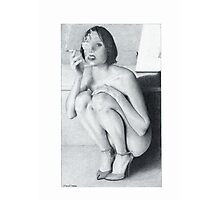 """Drawing"" The smoking girl Photographic Print"