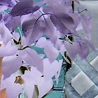 pretty purple effect flowers altered art photo by bkind2animals