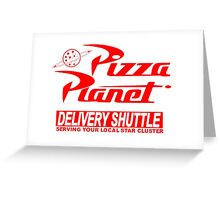 Pizza Planet Delivery Shirt Greeting Card