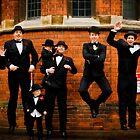 Jumping Groom and Groomsmen - Godfather style by nayamina