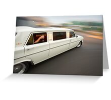 White Holden EH Limo rig shot Greeting Card