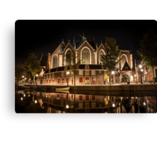 Amsterdam night: The Oude Church Canvas Print