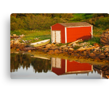 The Little Red Shed Canvas Print