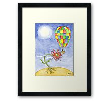 The watering Framed Print