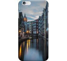 Canal in Amsterdam, early morning iPhone Case/Skin