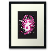 My hands are dirty Pink and White Framed Print