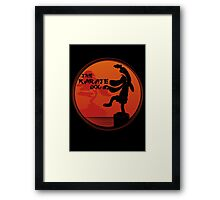 The Karate Dog  Framed Print