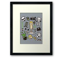 Dress up Luke Framed Print