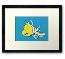 Flounder Sushi Framed Print