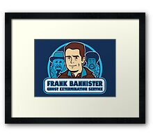 Frightener Ghost Extermination Service Framed Print