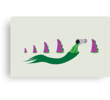 Evolution of Purple Tentacle Green Ooze Canvas Print