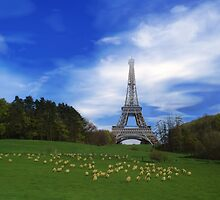 Fantasy = Pastoral Eiffel Tower by lacitrouille