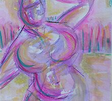 Purple Lady by gayle hoskins-nestor