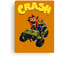Crash Bandicoot - Jeep  Canvas Print
