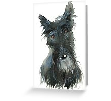 Barney The Scottie Dog Greeting Card